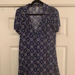 Free People Melody Onyx Combo Mini Dress Size 6